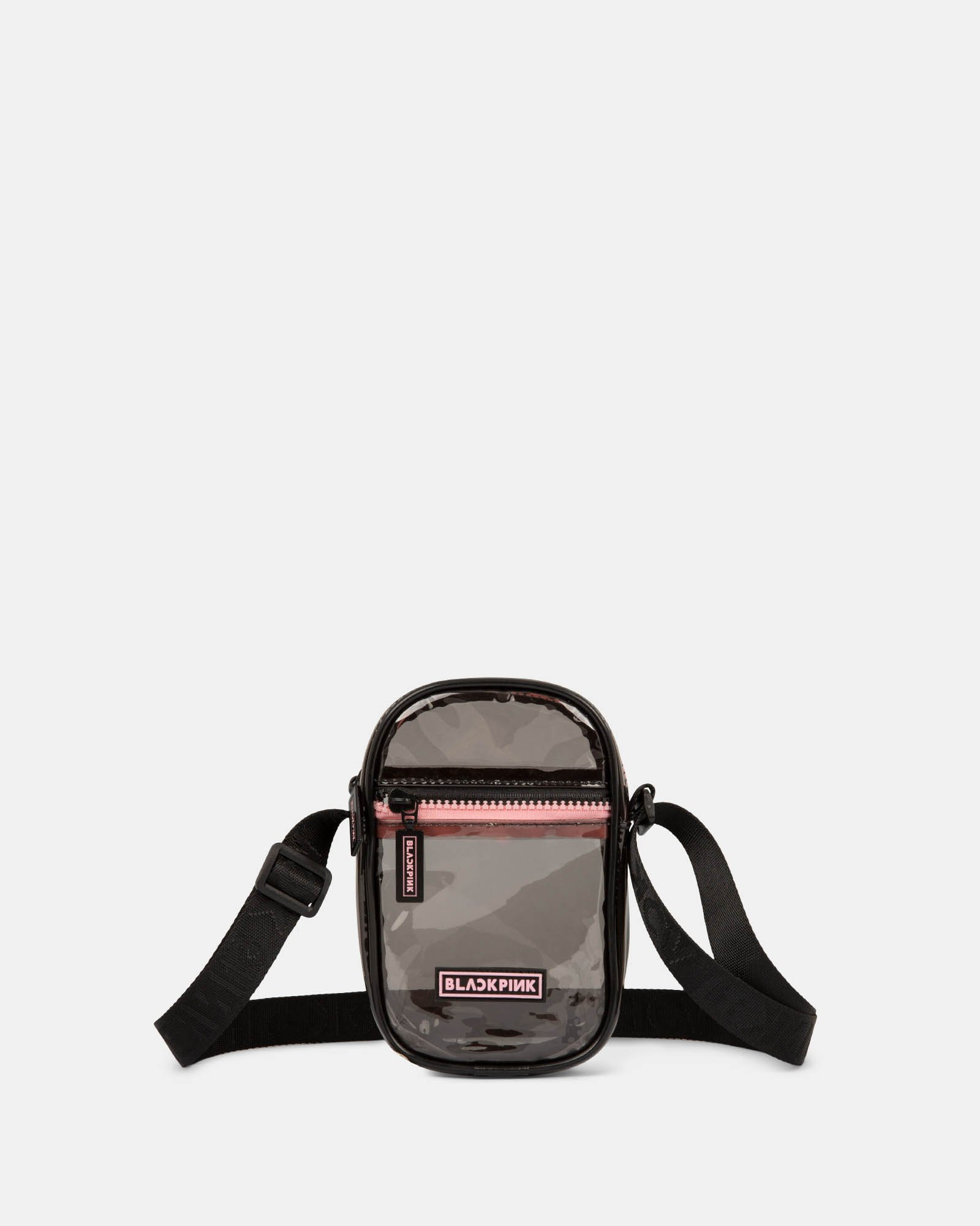 Blackpink - Clearly You Collection -Black-tinted see-through mobile case with pink zippers - Black - BLACKPINK - Zoom
