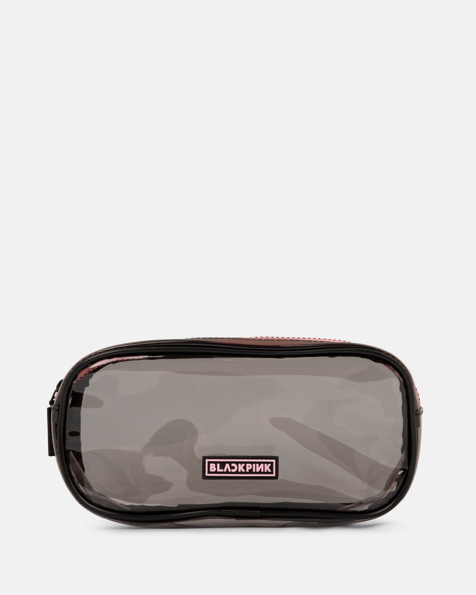 Blackpink - Clearly You Collection - black-tinted see-through pencil case with a pink zipper - Black - BLACKPINK - Zoom
