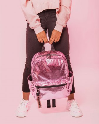 BLACKPINK - Scaled Up Collection - Backpack with Interior padded pocket ideal to store a laptop (up to 15.6 inches) and most tablets - Pink BLACKPINK