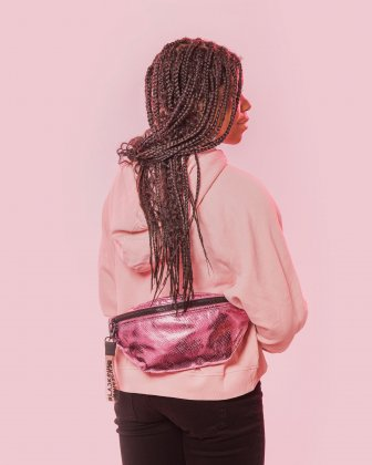 BLACKPINK - Scaled Up Collection - Money Belt with One single zippered opening to store your personal belongings when on the move - Pink BLACKPINK