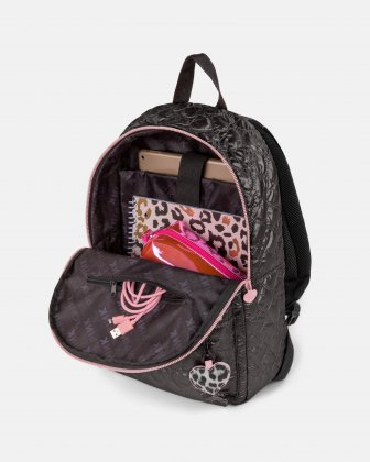 BLACKPINK - Be Still My Heart Collection - Backpack with Front zippered pocket for your most valuable items - black - BLACKPINK
