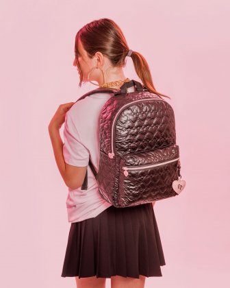 BLACKPINK - Be Still My Heart Collection - Backpack with Front zippered pocket for your most valuable items - black BLACKPINK