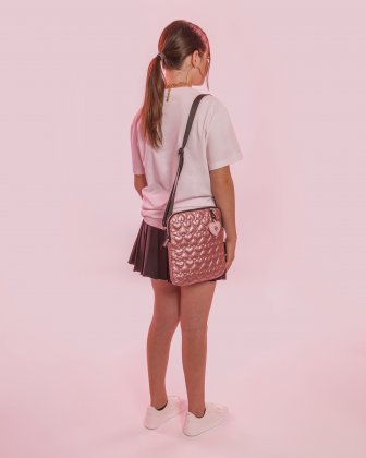 BLACKPINK - Be Still My Heart Collection - Crossbody bag with Padded main compartment with a top zippered opening, ideal to store your tablet- pink BLACKPINK
