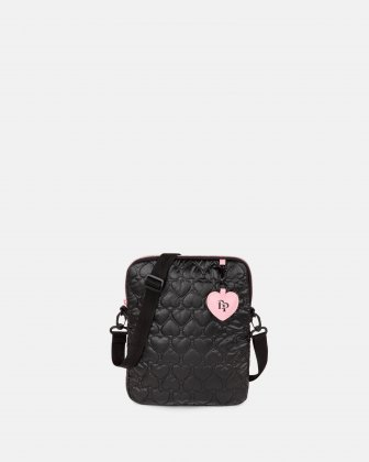 BLACKPINK - Be Still My Heart Collection - Crossbody bag with Padded main compartment with a top zippered opening, ideal to store your tablet- black BLACKPINK