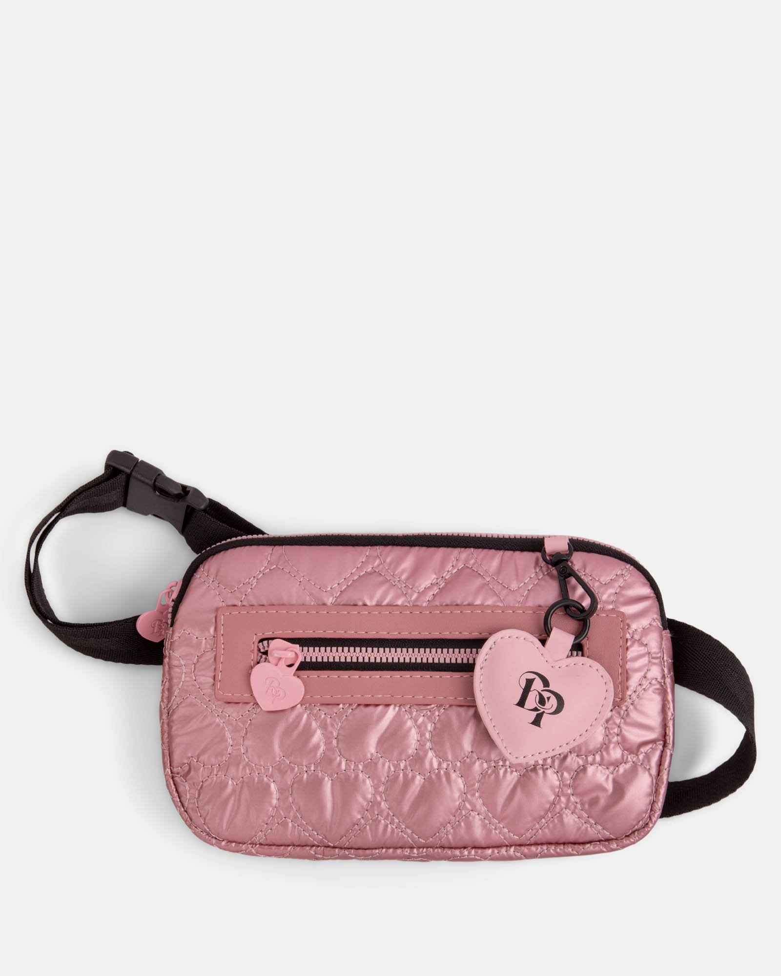 BLACKPINK - Be Still My Heart Collection - Money belt Soft, quilted pink material with a delicate heart-shaped pattern - pink - BLACKPINK - Zoom