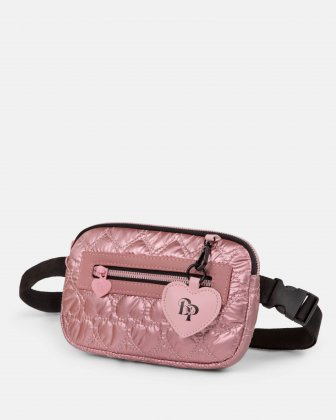 BLACKPINK - Be Still My Heart Collection - Money belt Soft, quilted pink material with a delicate heart-shaped pattern - pink - BLACKPINK