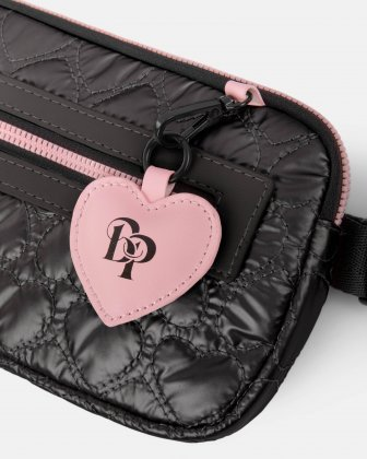 BLACKPINK - Be Still My Heart Collection - Money belt Soft, quilted pink material with a delicate heart-shaped pattern - black - BLACKPINK