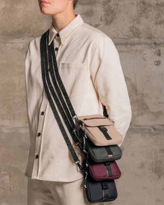 BUGATTI X EDITION22 - Crossbody that's both slim and functional, perfect for your small essentials items - Plum Bugatti