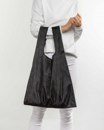 The Rolling Stones - The Paddington Collection - Packable Tote bag with matching integrated carrying pouch - Black The Rolling Stones