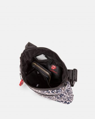 The Rolling Stones - Evolution Collection - Crossbody bag with top main zippered opening  - Cheetah The Rolling Stones