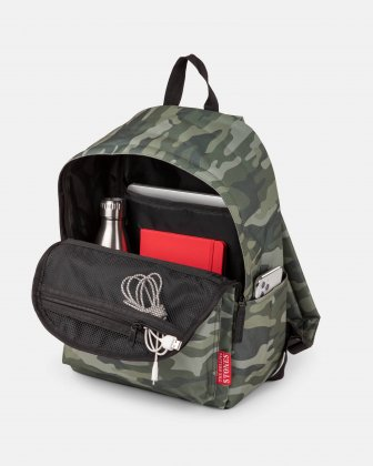 The Rolling Stones - The Core Collection - Backpack with top zippered main opening - Green Camo The Rolling Stones