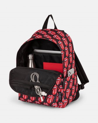 The Rolling Stones - The Core Collection - Backpack with top zippered main opening - Black - Red The Rolling Stones
