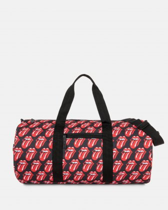 The Rolling Stones - The Core Collection - Duffle Bag with adjustable and removable crossbody strap - Black - Red The Rolling Stones