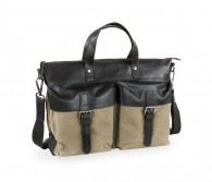 Urbano Shopper Leather/Canvas Bugatti